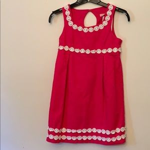 Girls Lilly Pulitzer Pink and White Dress Sz 8